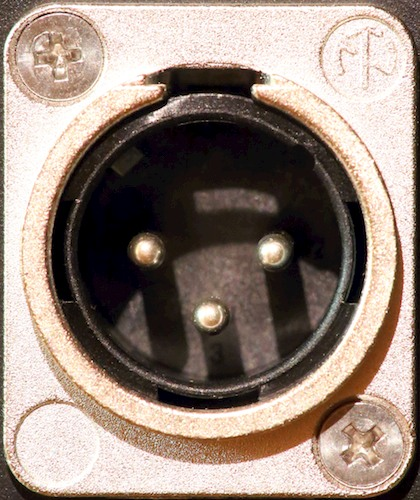XLR Male Panel Connector